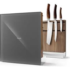 kitchen knives holder nesmuk walnut knife holder block gray sportique