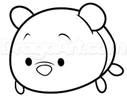 draw tsum tsum winnie pooh step step disney