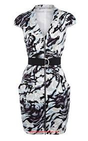 beautiful karen millen dl132 zebra print dress party dresses