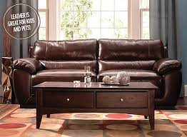 Luxurious Leather Raymour And Flanigan Furniture Design Center - Full leather sofas