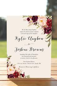 wedding invitations card vintage pink floral wedding invitation
