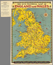 Map Of Wales England by The New Pictorial Map Of England And Wales David Rumsey