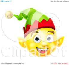 happy thanksgiving smiley face clipart of a 3d yellow christmas elf smiley emoji emoticon face