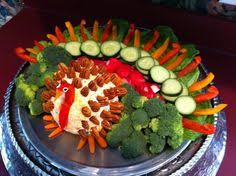 thanksgiving turkey veggie platter entertaining fall
