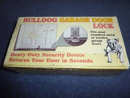 securing up and over garage door bulldog garage door lock security for up ans over door in