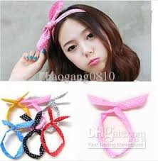 ribbon hair bands rabbit ear ribbon denim headband hair band party wire