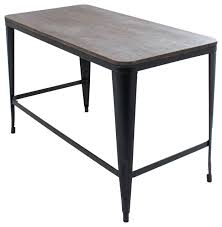 Industrial Office Desks by Pia Home Office Desk With Espresso Wood Top And Metal Frame