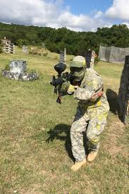 otc soldiers exchange pt garb for paintball gear at blora