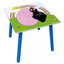 bureau barbapapa table bureau carré coloré pour enfants collection barbapapa
