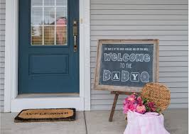 stylish baby sprinkle ideas we love babyq chalkboard welcome sign