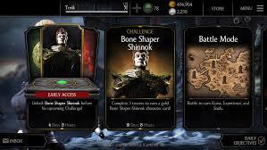 Challenge Fatality Bone Shaper Shinnok Challenge Available Mkx Mobile Mortal Kombat