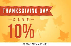 usa thanksgiving day sale banner on blue background vector