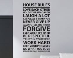 Family House Rules House Rules Decal Etsy