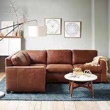 West Elm Henry Leather Sofa Henry 3 L Shaped Sectional Leather Westelm Torb
