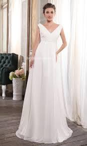 robe mariã e enceinte col en v robe de mariée enceinte empire en chiffon décorée de