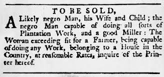 newspaper ad offering slaves for sale slave life pictures