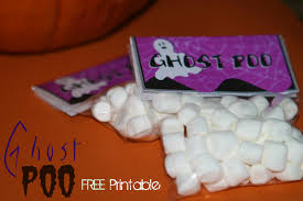 halloween craft idea ghost poo with free printable