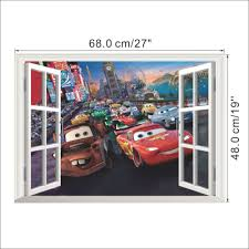 3d cars cartoon wall mural decal wall art mart