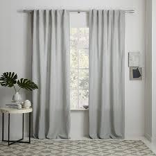 Heavy Grey Curtains Stylish Belgian Flax Linen Curtain Natural West Elm Grey Linen