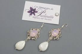 boucle d oreille mariage bijoux mariage boucles d oreilles cabochon cristal may