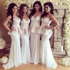 wedding dresses for bridesmaids beautiful white lace bridesmaid dresses sleeveless