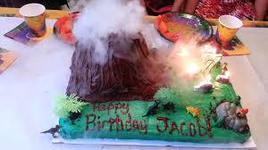 erupting volcano cake youtube