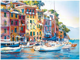 the italian riviera watercolor art and photography pinterest