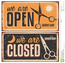 retro door signs for barber shop from 27 million