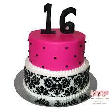 sweet 16 cakes 1407 sweet 16 2 layer birthday cake in pink black abc cake