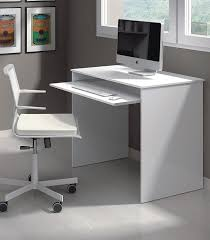 White Office Desk by New Milan Small White Gloss Computer Desk By Furniture Factor
