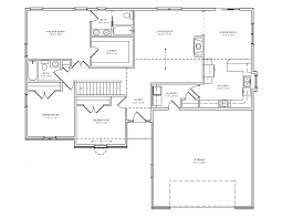 Bi Level Floor Plans With Attached Garage by Three Bedroom House Plans