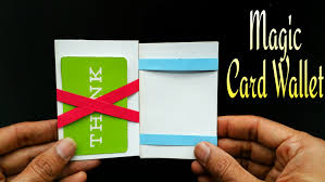 magic card wallet diy tutorial by paper folds
