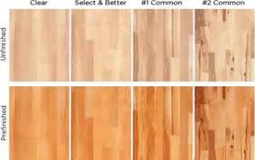 comparison of white oak select and 1 common grades floors