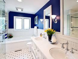bathroom white wall color interior design with brick combination
