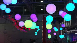 crazyworker led rgb moving at trade show