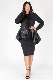 ruffle girl plus size city girl ruffle accent peplum dress plussizefix