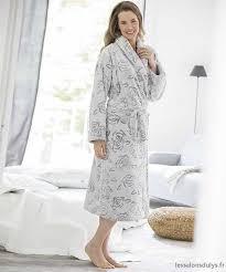 robe de chambre damart élégant robe de chambre damart en polaire jacquard gris femme