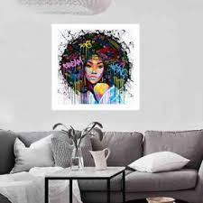 living room prints african woman portrait canvas wall oil painting prints living room