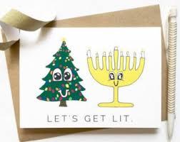 hanukkah cards christmas and hanukkah card cards chrismukkah