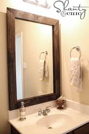 How To Build A Frame Around A Bathroom Mirror Cheap And Easy Way To Update A Bathroom Shanty 2 Chic