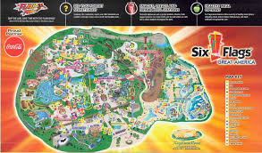 6 Flags Coupons Six Flags Great America Map Roundtripticket Me