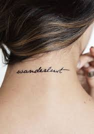 Tattoo On Neck Ideas Best 25 Wanderlust Tattoos Ideas On Pinterest Travel Tattoos
