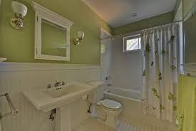 Recessed Wainscoting Panels Cottage Full Bathroom With Tiled Wall Showerbath U0026 Wainscoting In