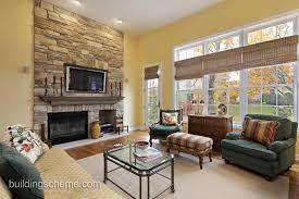 living room setup with fireplace 915