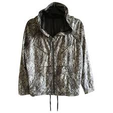 sport biker jacket ecru snakeskin polyester the kooples biker jacket vestiaire