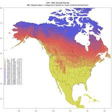 Mexico Climate Map by Current Climate Data For Western North America Western United