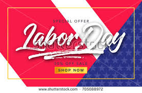 labor day sale promotion advertising banner stock vector 705051055