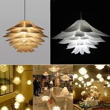 Lotus Chandelier Diy Lotus Chandelier Iq Puzzle Pendant Light Decor Ceiling Light