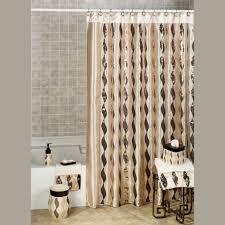 Grey Green Shower Curtain Bathroom Shower Curtains And Matching Accessories Aqua Chevron