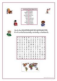 word search nationalities printable 36 free esl word searches worksheets
